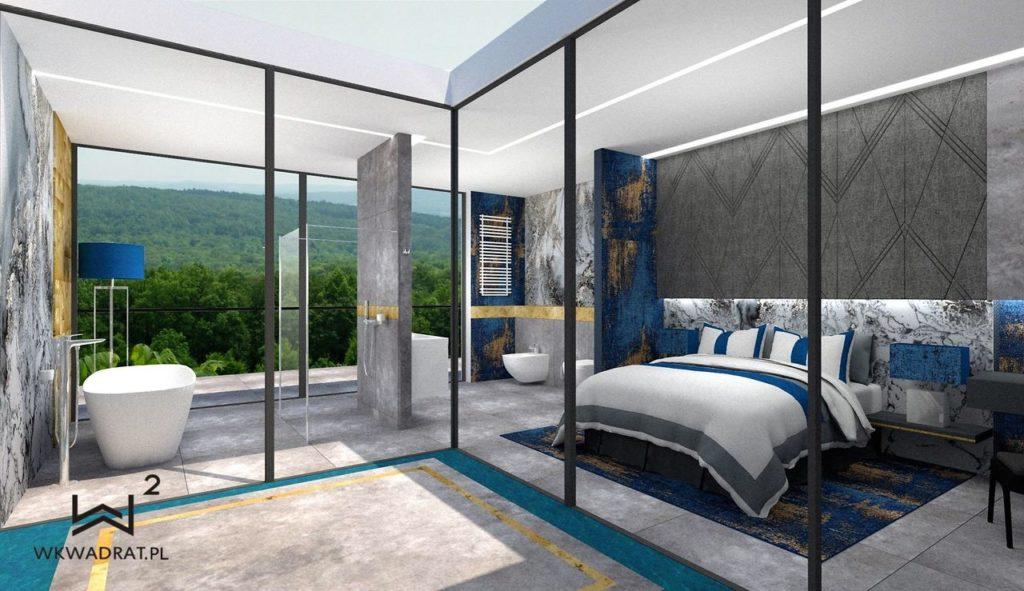 PROJEKTOWANIE I ARANŻACJA WNĘTRZ - ARCHITEKT WNĘTRZ KOSZALIN -projekt-wnętrz-pokoju-hotelowego-aranzacja-apartementu